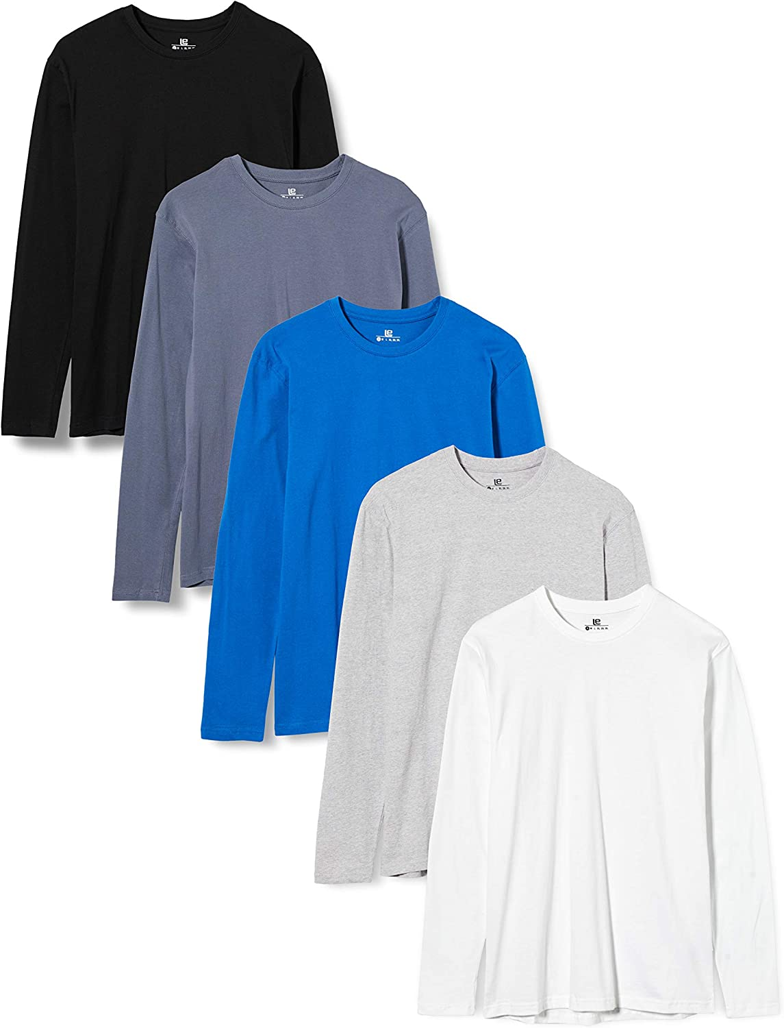 Lower East Camiseta de manga larga Hombre, Pack de 5