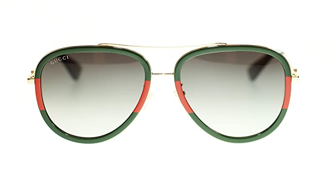 319d1dc0b7 Image Unavailable. Image not available for. Colour  Gucci Women Aviator  Sunglasses GG0062S 003 ...
