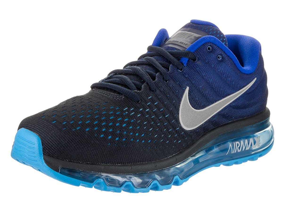 cff16e6173 Nike Mens Air Max 2017 Running Shoes Dark Obsidian/White/Royal Blue 849559-400  Size 11.5: Buy Online at Low Prices in India - Amazon.in