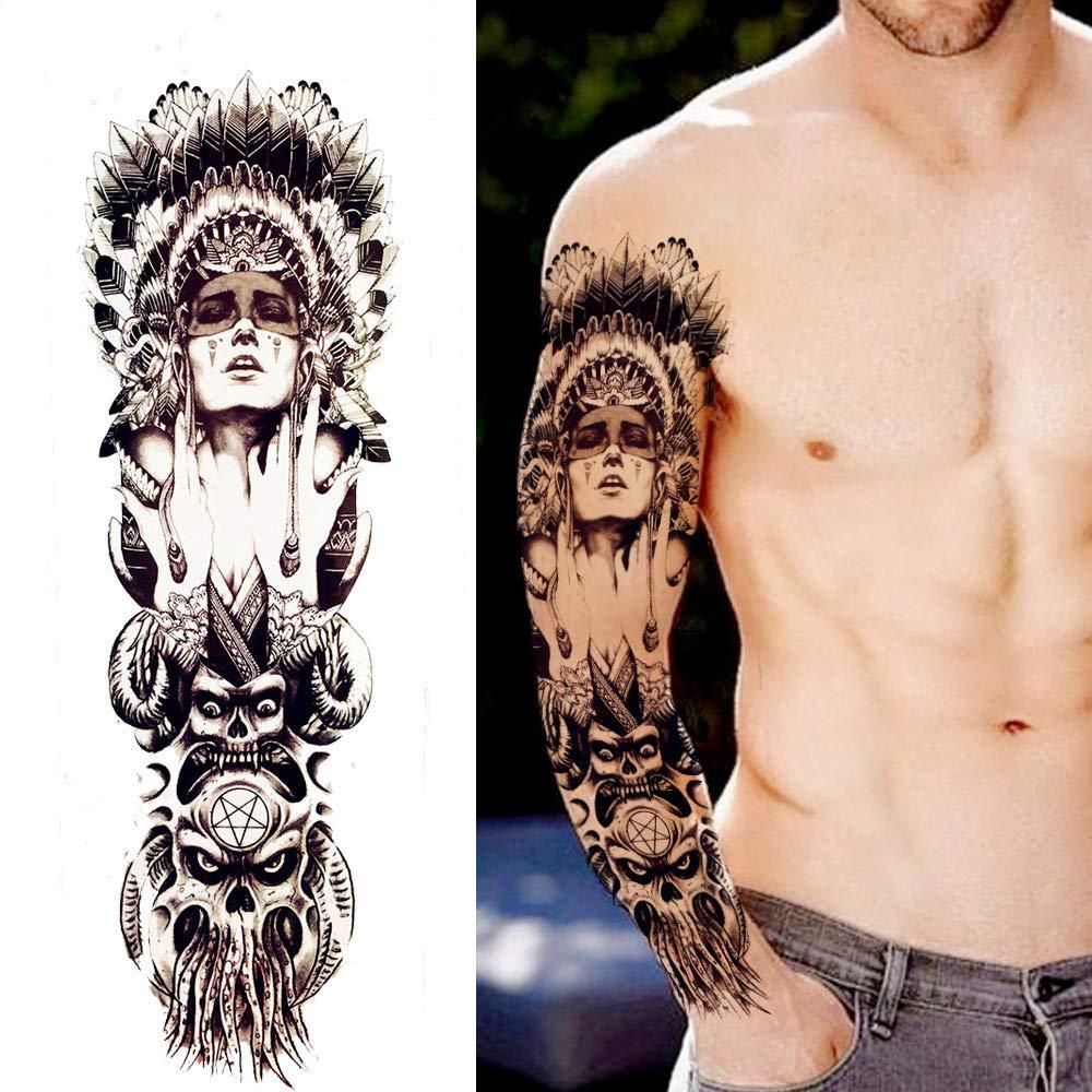 MKMBLV Transferencia Caliente Guerrero Indio Grande Lleno Tatuaje ...