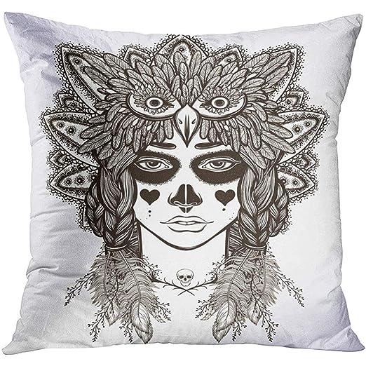 Pillow Cover,Arte del Día De La Niña Mexicana Libro para Colorear ...