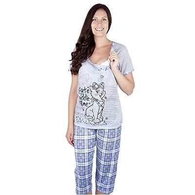 2 en 1 Conjunto Pijama de 2 piezas maternidad & alimentación 2057: Ropa y accesorios