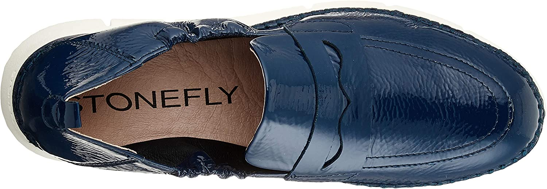 Stonefly Elitte Lady 1 Naplak, schelpen (Loafer) voor dames Blu Ocean Blue 144