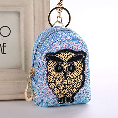 Amazon.com: EAPTS Key Chain Keychain owl Mini Backpack Cute ...