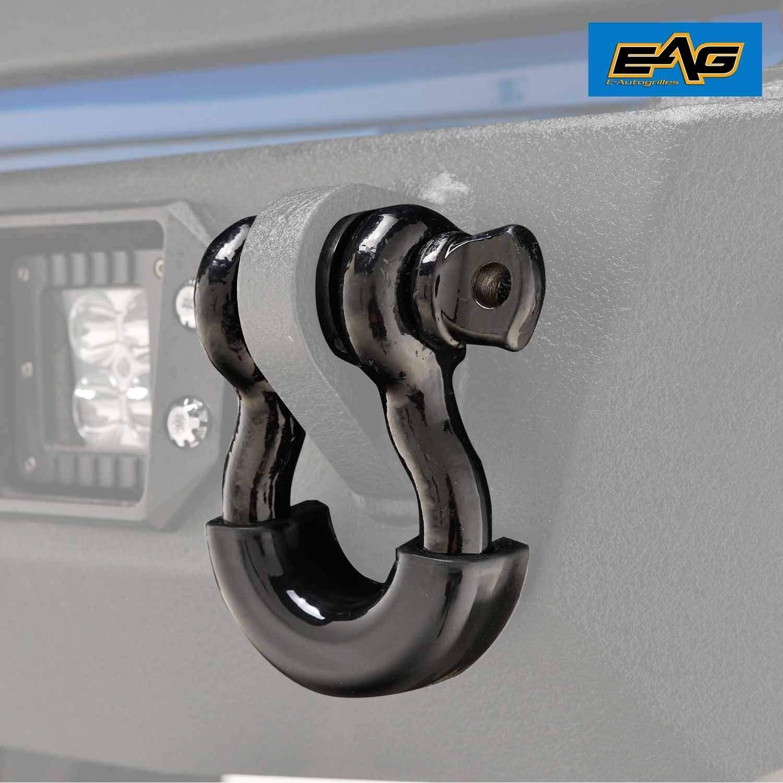 "EAG 3/4"" Black D-Ring Shackles 4.75 Ton Capacity"