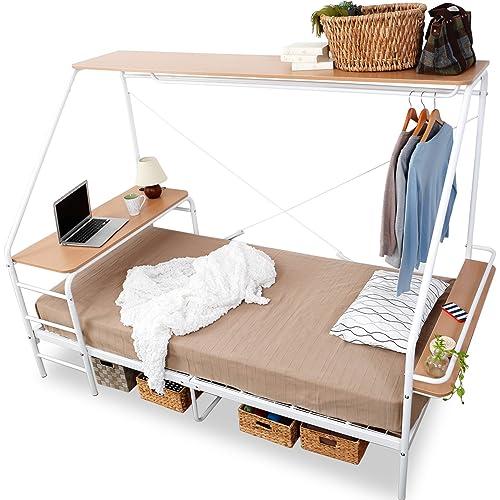 LOWYA 人をダメにするベッド 収納・デスク一体型フレーム