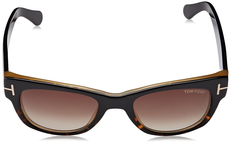 7e9f92fa506f Amazon.com  Tom Ford Sunglasses FT 0058 Cary 182 Shiny Dark Havana ...