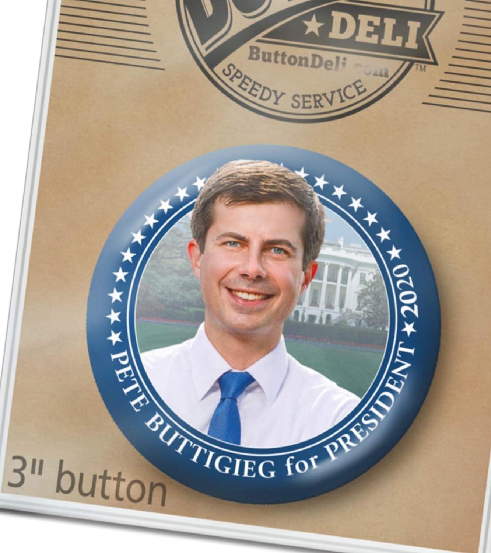 3-PACK Pete 2020 RAINBOW button 2.25 Buttigieg President Boot Edge Mayor Pin