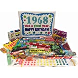 Woodstock Candy 50th Birthday Gift Box of Nostalgic Retro Candy from Childhood for a 50 Year Old Man or Woman Born in 1968