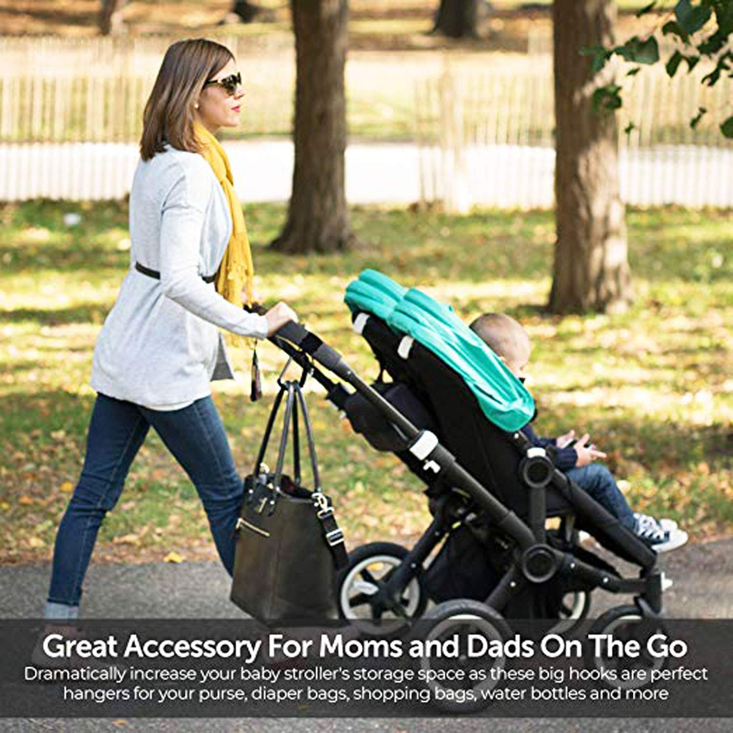 Groceries 4 Pack of Baby Stroller Organizer Hook Clip for Multi-Purpose HIG Stroller Hooks Mommy Hook 2PCS Purse Hanger for Baby Diaper Bags Clothing