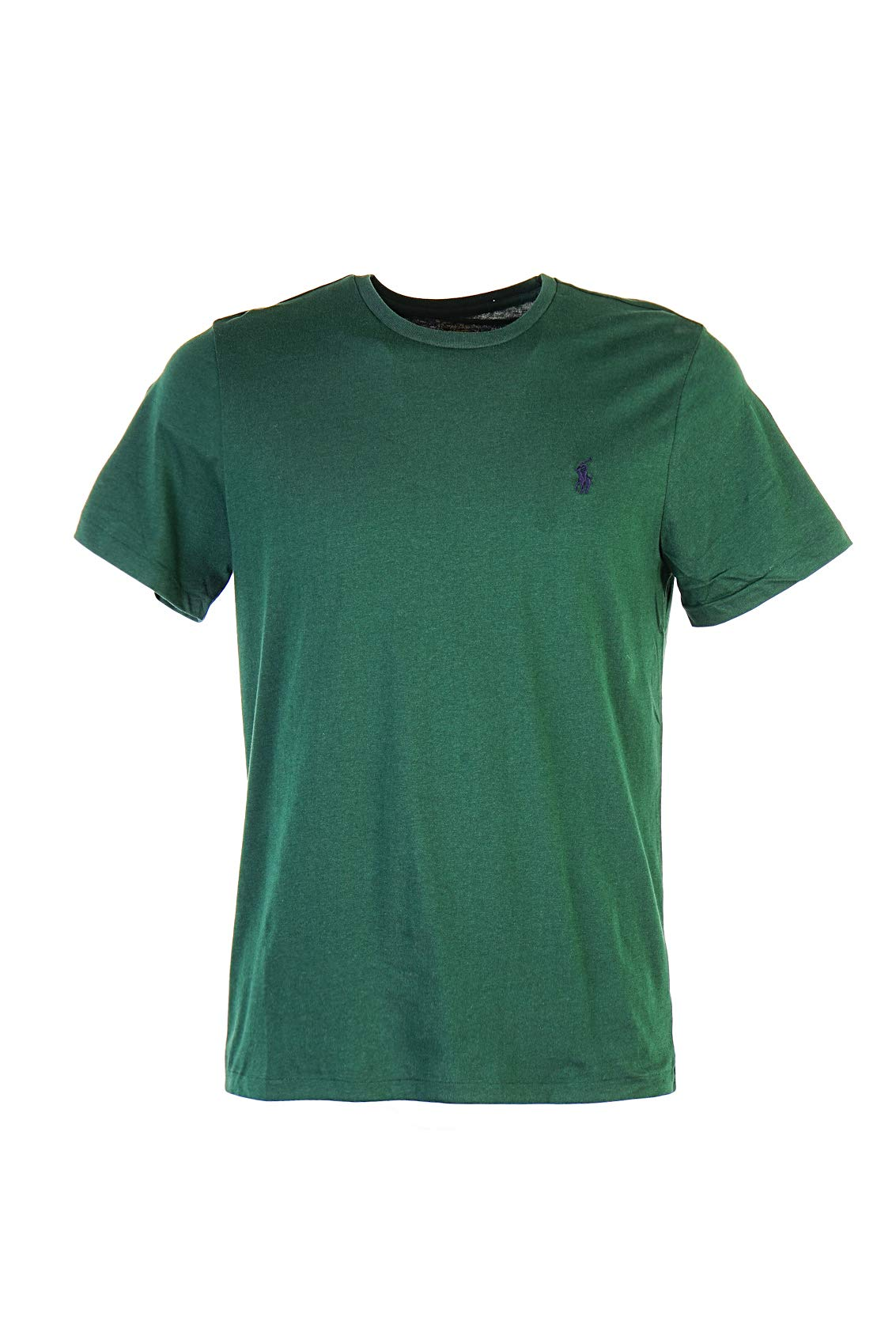 737ffce5 Polo Ralph Lauren Men's Crew Neck T-Shirt (Large, Pine Green (Navy Pony))