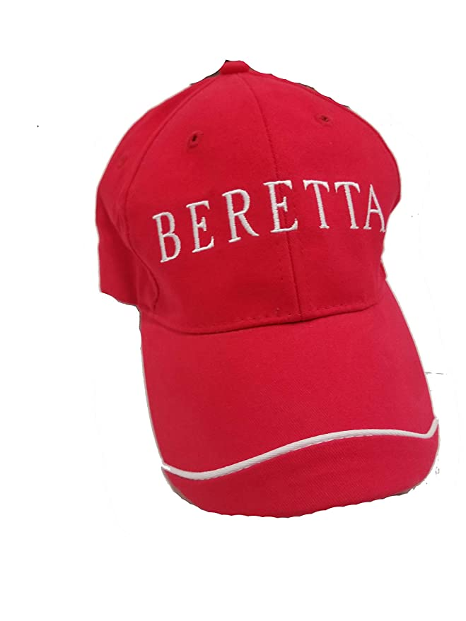 ocg Beretta - Gorra Bordada, Color Rojo y Blanco: Amazon.es ...