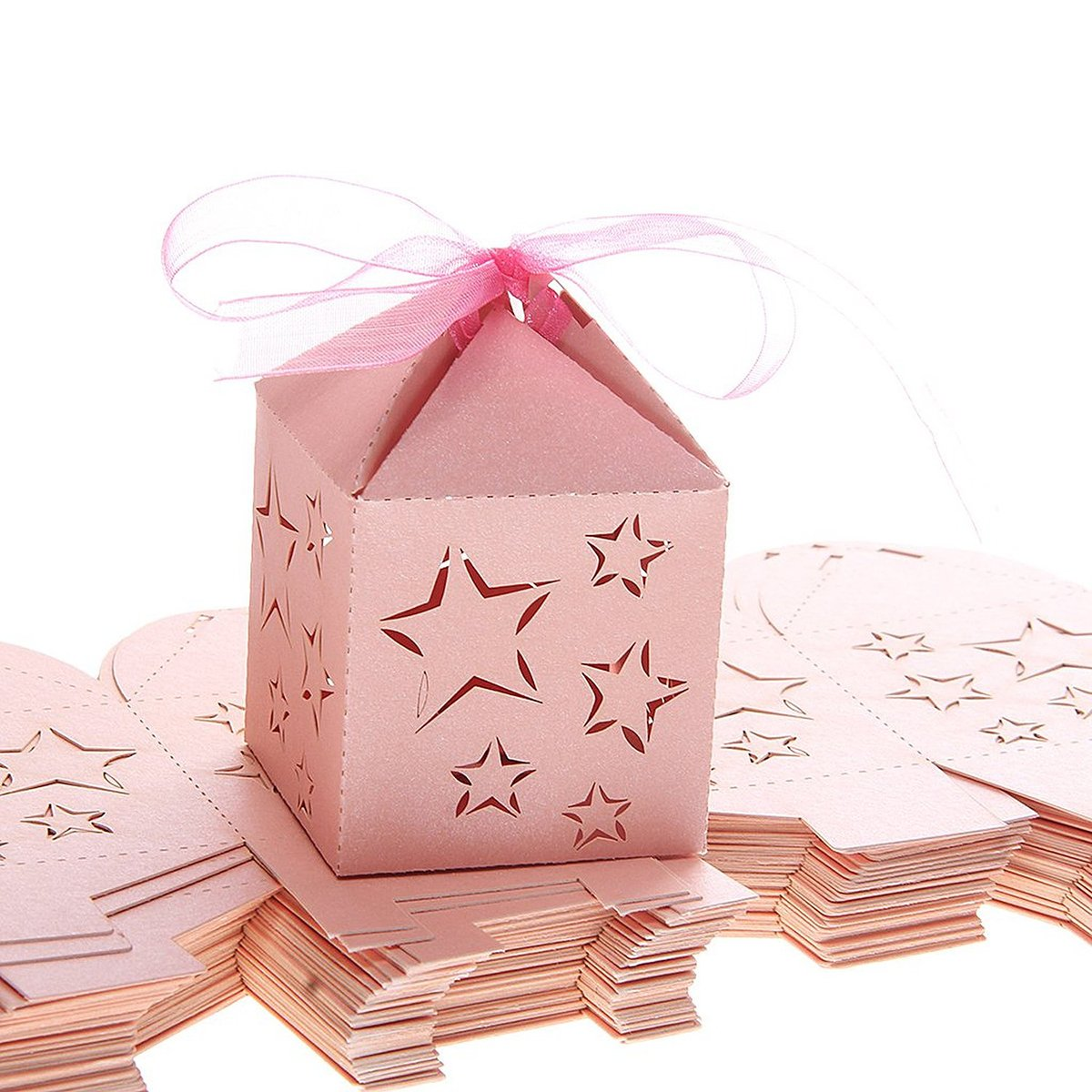 Amazon.com: Tinksky 50pcs Laser Cut Star Pattern Paper Candy Sweets ...