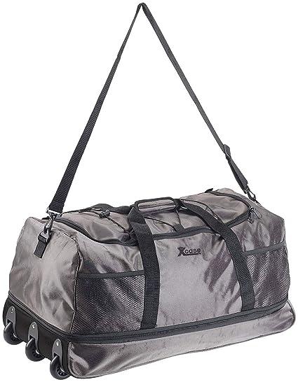 Xcase Reisetaschen mit Rollen: Reisetasche mit Trolley-Funktion, faltbar, erweiterbar, 110-140 l (Faltbare Reisetasche mit Ro