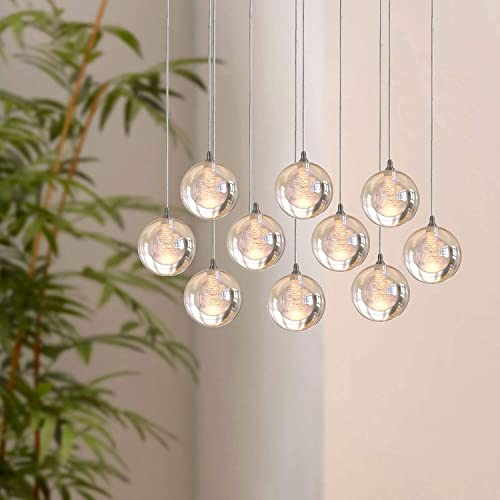 Aura 10 Mini Pendant Glass Ball Lighting Chrome