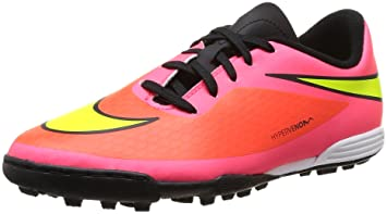 fc80e13924 Nike Boys' Hyper Venom Phade TF Boots-Pink/White, Size 3: Amazon.co ...