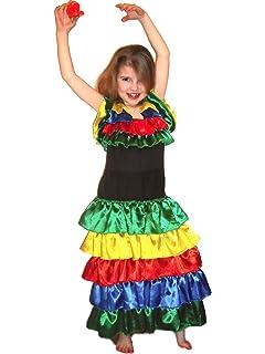 Spanish Dancer Rumba Dancer Flamenco Dancer Rio De Janeiro Dress Girls Costume