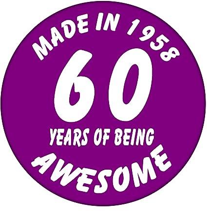 60th cumpleaños Insignia - hecho en 1958 - 60 años de ser ...