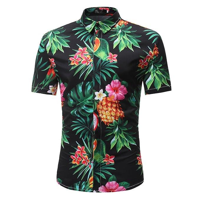 4091b3a89098b Gusspower Camisa Hawaiana Hombre Manga Corta