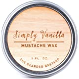 Simply Vanilla Mustache Wax by The Bearded Bastard | Mustache Grooming, Men's Grooming, Hydrating, Essential Oils, Beeswax, Jojoba Oil, Men's Care, Facial Hair Products | ALL NATURAL, 1oz