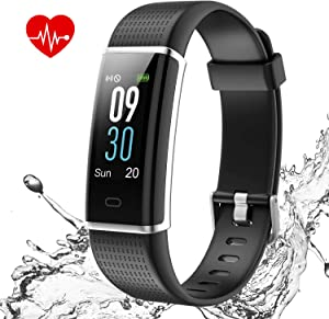 I-SWIM Fitness Tracker with Heart Rate Monitor, Fitness Watch Activity Tracker Smart Watch with Sleep Monitor 14 Sports Mode,Pedometer Watch for Kids Men Women (Color Screen,IP68 Waterproof)