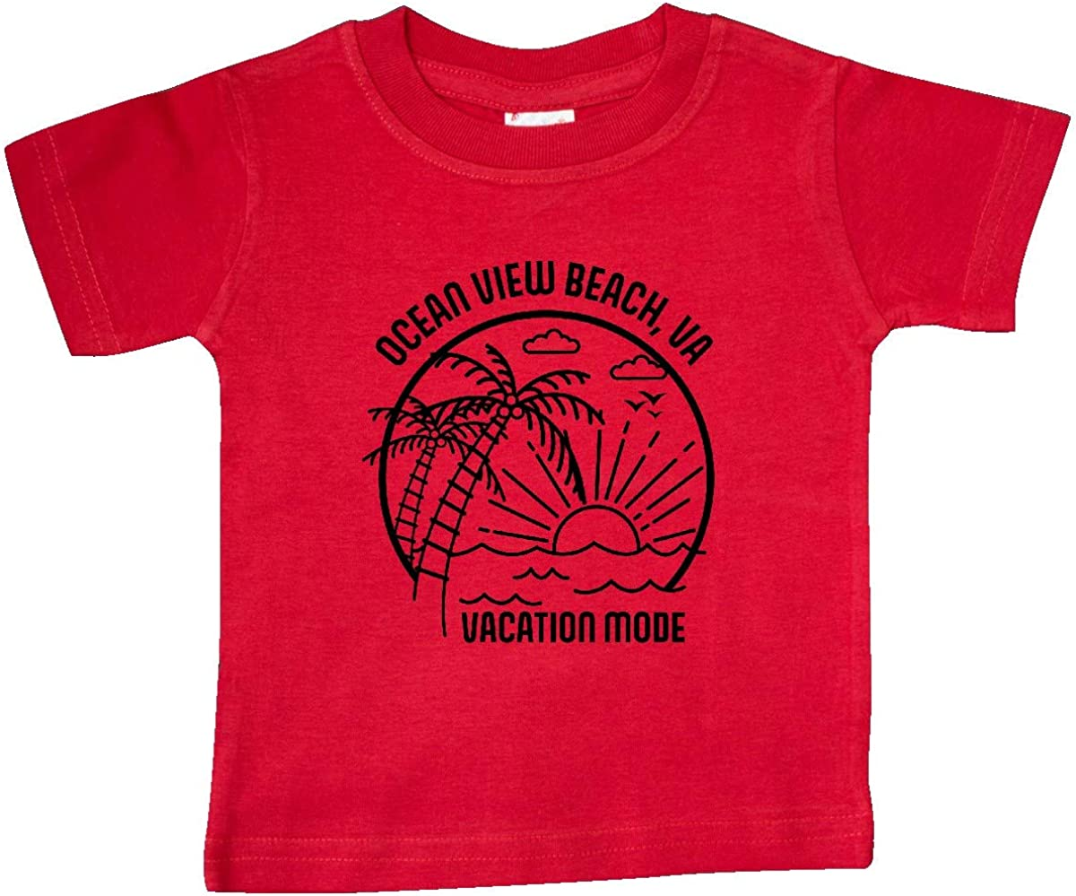 inktastic Summer Vacation Mode Ocean View Beach Virginia Baby T-Shirt