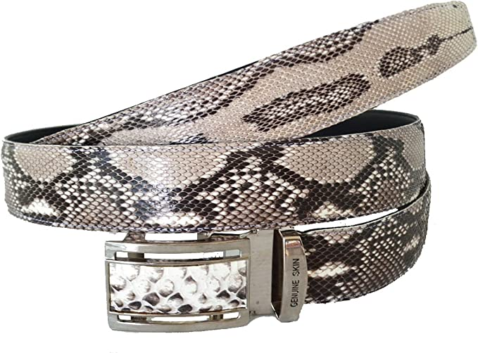 Handmade Genuine Natural Python Leather Belt Made in U.S.A