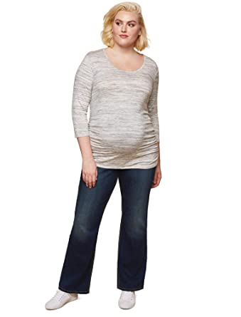 56ea92f76e6 Jessica Simpson Plus Size Secret Fit Belly Boot Cut Maternity Jeans at  Amazon Women s Clothing store
