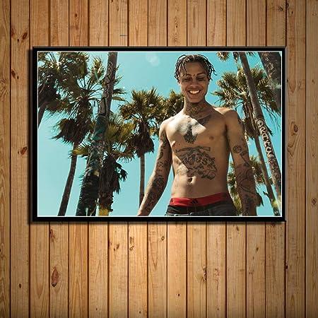 Zlhcich Rap Hip Hop Chanteur Art Peinture Murale Décoration