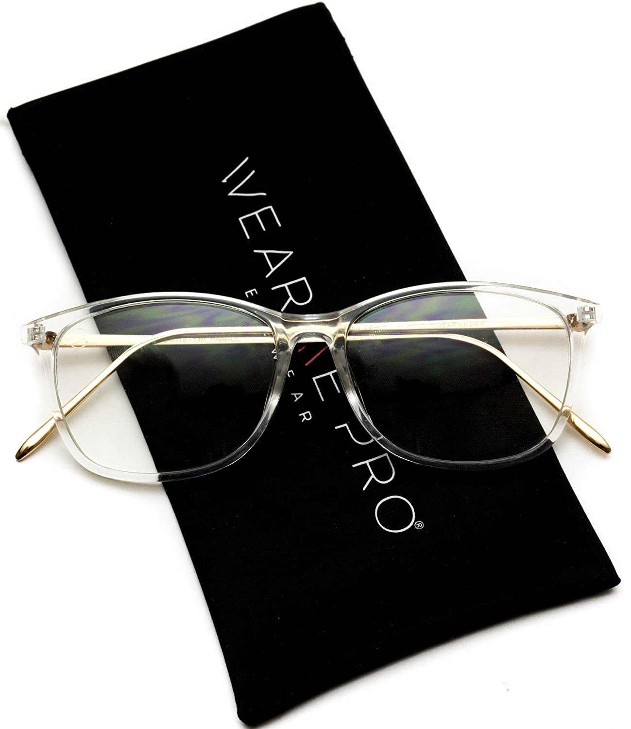 WearMe Pro - Rectangular Slim Elegant Fashion Clear Glasses