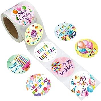 Amazon.com: Fancy Land - Pegatinas de cumpleaños para niños ...