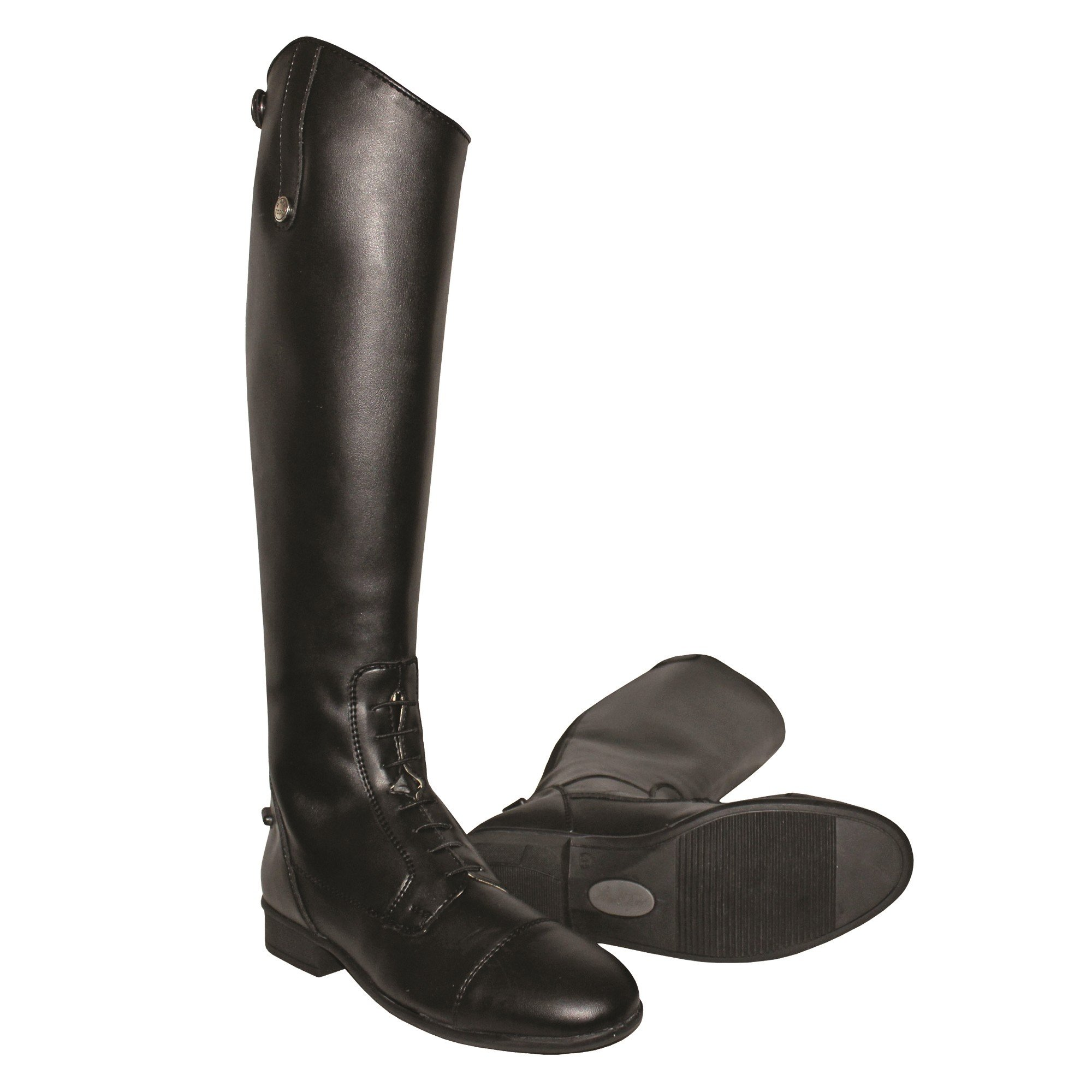 Mark Todd Childrens Toddy Tall Leather Synthetic Field Boots (2 US (Standard)) (Black)