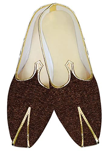 Mens Brown Jute Wedding Mojari MJ014404