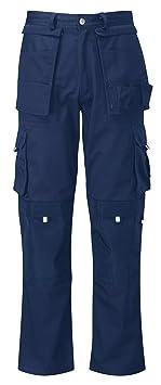 Pantaloni da Lavoro in Cotone 100/% Multi Stagione Vestibilit/à Regular Tasche Laterali Portametro Bande Reflex CHEMAGLIETTE Taglia: XXL Colore: Smoke