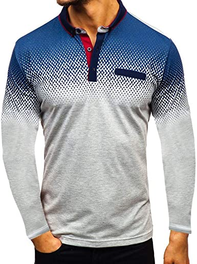 Amazon.com: Hmlai Clearance Men's Long Sleeve Polo Shirts Autumn ...