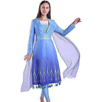 Riekinc Elsa Costume Princess Dress Cosplay Fairy Fancy Dress: Clothing