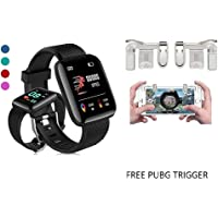 HUG PUPPY Screen Smart Fitness Watch, IP67 Waterproof Smart Activity Tracker with Heart Rate Monitor,Pedometer,Calorie Counter,Sleep Monitor, SMS/SNS Alert- 1pc