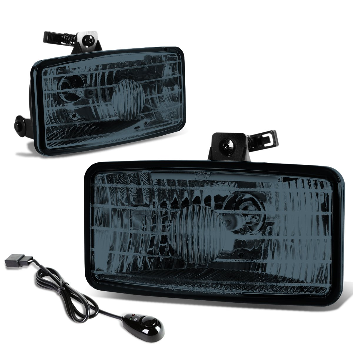 For Chevy S10 Xtreme Gmt325 Pair Of Bumper Driving Fog 2001 Silverado Lamp Wiring Harness Lights Kit Switch Smoked Lens Automotive