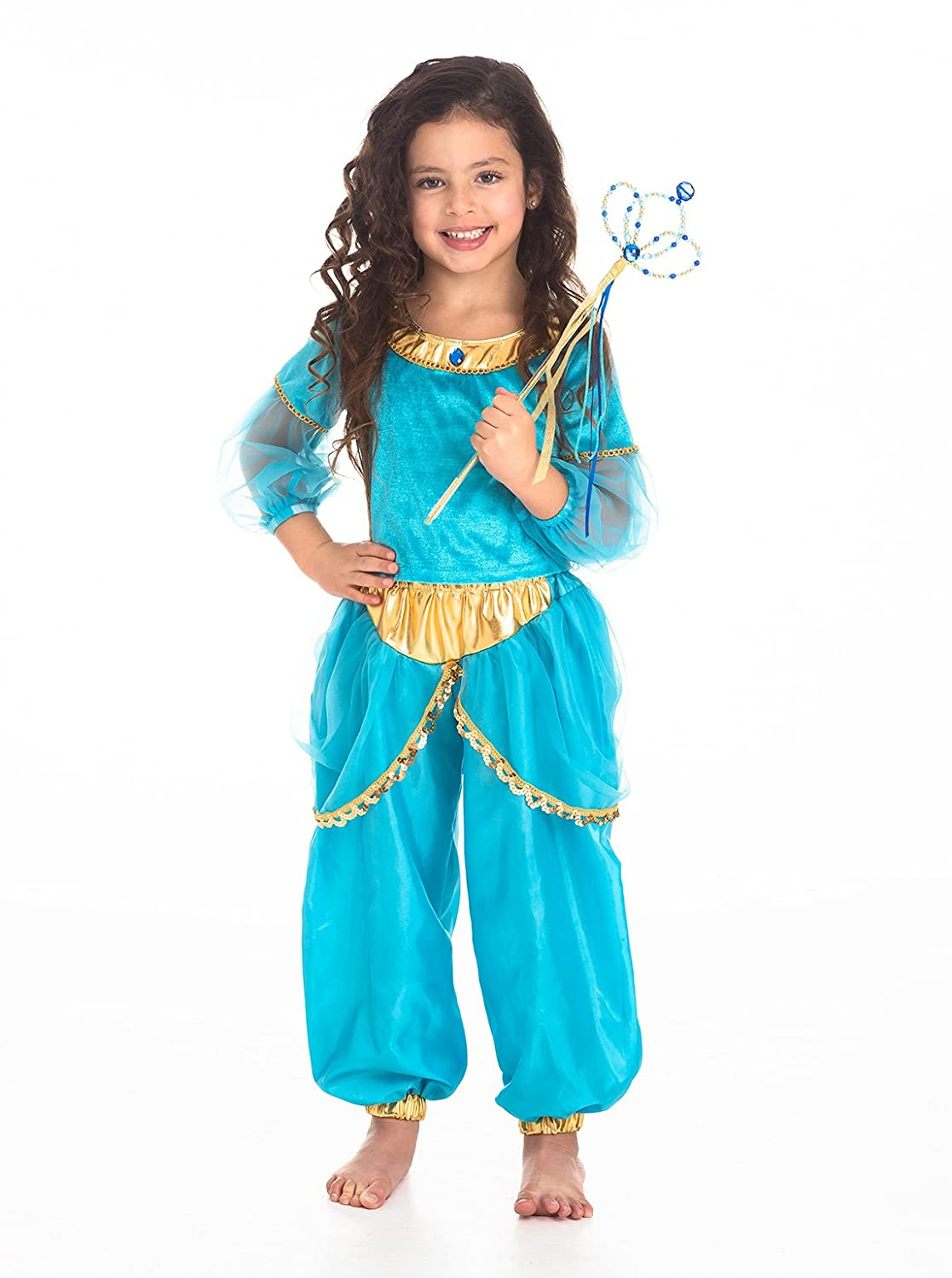 Amazon.com: Little Adventures Arabian Princess Dress Up Costume For ...
