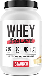 Staunch Whey Isolate (Vanilla Ice Cream) 2 LBS - Premium, High Quality Whey Protein Isolate