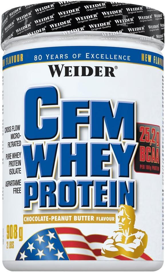 Weider CFM proteína Whey Chocolate Peanut Butter: Amazon.es ...