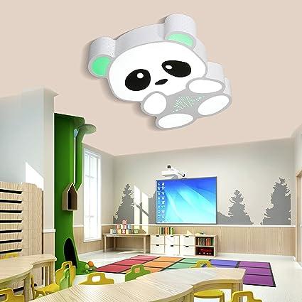BINGJ Lámpara para niños Lámparas de techo Panda Lámparas de ...