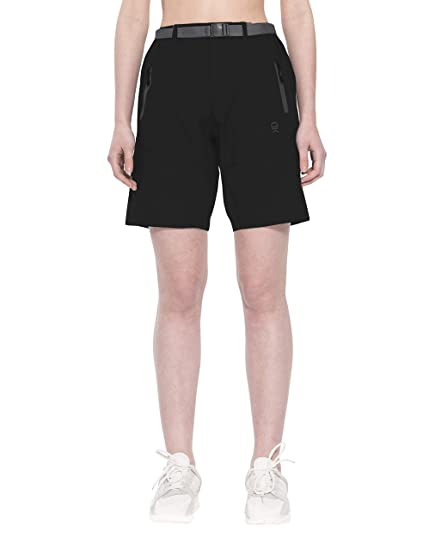 e3c6f29310 Little Donkey Andy Women's Stretch Quick Dry Cargo Shorts for Hiking,  Camping, Travel Black