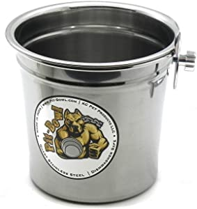 Pit-Bowl Stainless Steel Bolt-ON, Dog Crate Water Bowl (1 to 1.5qt) CR82