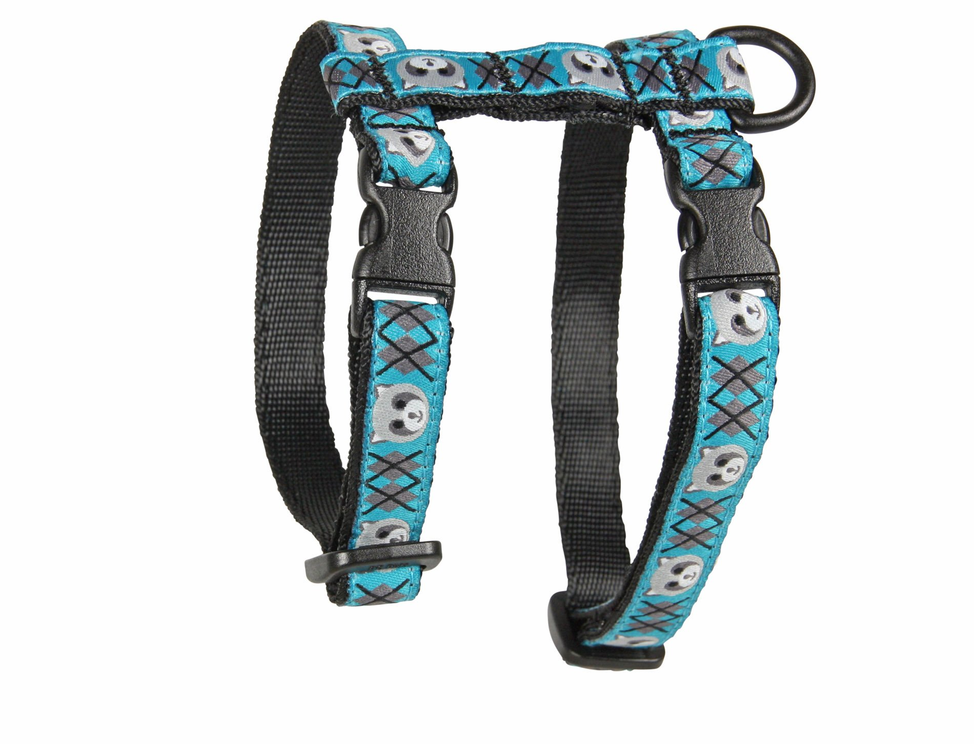 RC Pet Products 1/2'' Adjustable Kitty Cat Harness, Chunky, Raccoon