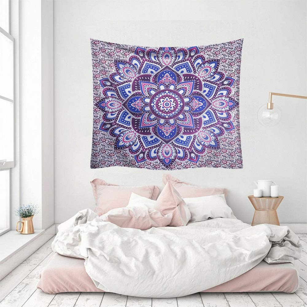 ETH Nordic hangcloth Decorative Tapestry Tapestry Beach Towel Tapestry fire Mandala Flower Blanket Durable (Size : 200x150CM)