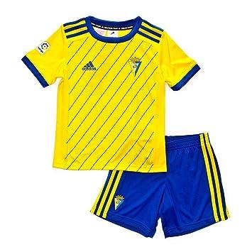 Adidas Cádiz CF Primera Equipación 2018-2019 Niño, Conjunto, Amarillo-Azul, Talla 110: Amazon.es: Deportes y aire libre