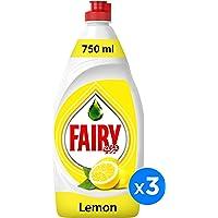 Fairy Lemon Dish Washing Liquid Soap, Triple Pack, 3 x 750 ml