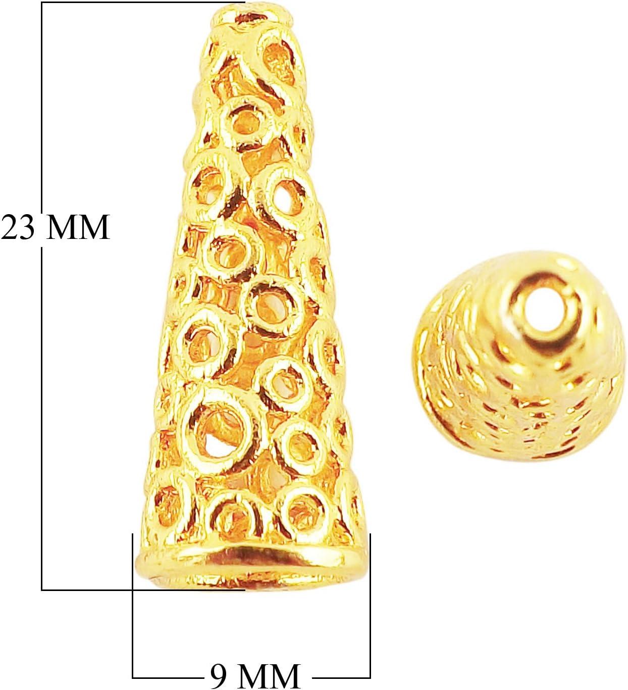 18K Gold Overlay Cone CG-503-23X9MM