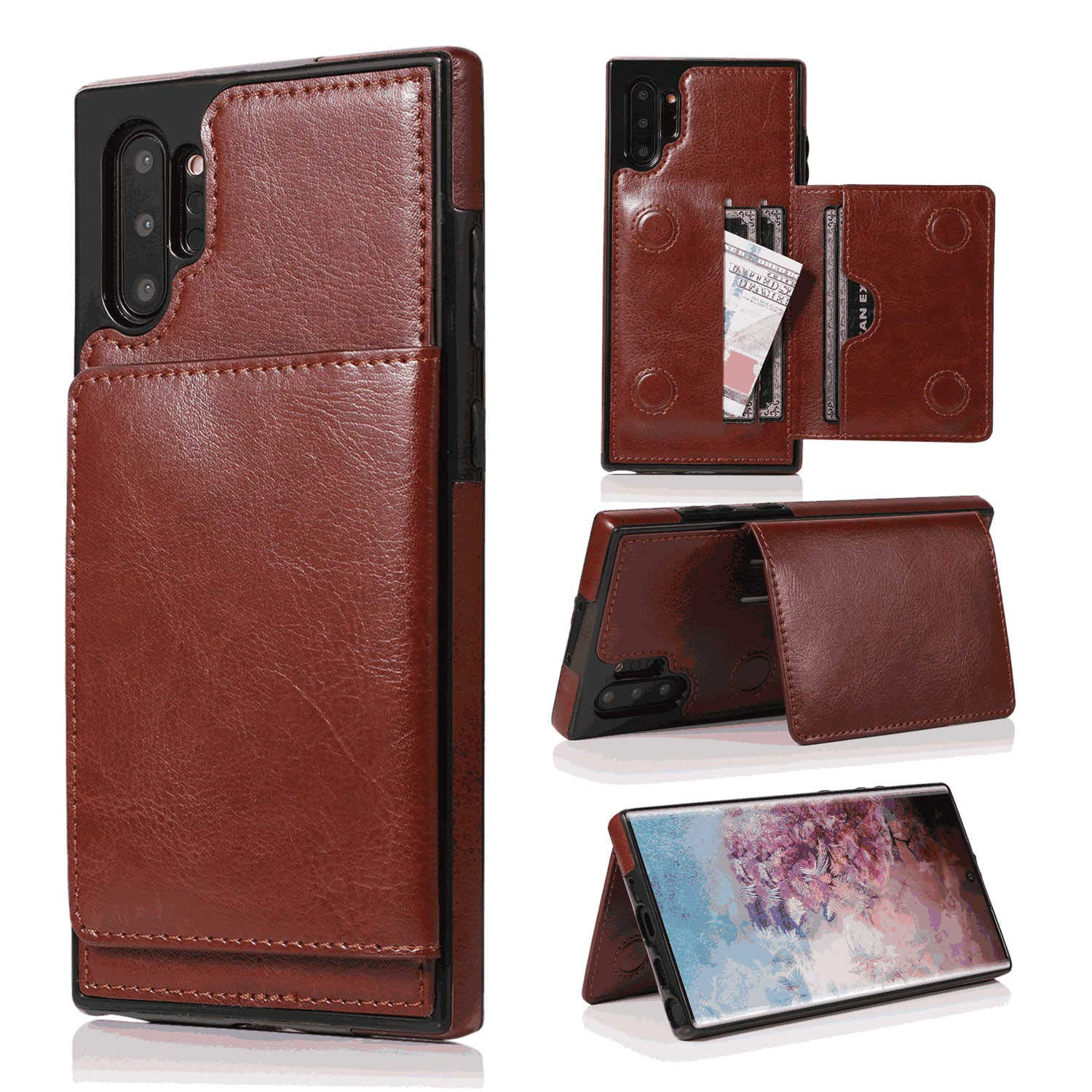 Wallet Cover for iPhone 7 Plus Business Gifts Leather Case Compatible with iPhone 7 Plus with Extra Waterproof Case Pouch